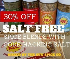 Coupon Code for 30% off of Kissed By The Sun Salt Free Spices